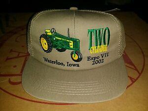 NEW JOHN DEERE  MESH SNAPBACK VINTAGE Trucker Hat Baseball Cap NWT