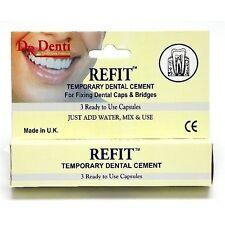 Dente denti riadatta DR cemento-Temporaneo Fix dentale Dental Denti CAPS Ponti