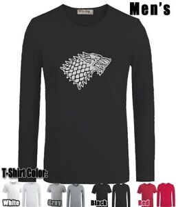 House-Stark-Design-Long-Short-Sleeves-Men-039-s-Boy-039-s-T-Shirt-Graphic-Tee-Shirt-Tops