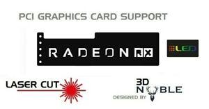 BLACK-RGB-Addressable-LED-Backlit-RADEON-RX-GPU-Anti-Sag-Support-Bracket
