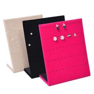 Velvet-Jewelry-Earring-Ear-Studs-Organizer-Stand-Holder-Display-Rack-Showcase