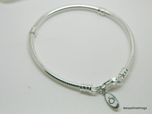 Authentic Pandora 925 Sterling Silver Bracelet Baby Boy With Charms Aa78 Heart Snap Clasp 8 3 Wrist Is 6 7 To 1 4 No Ebay