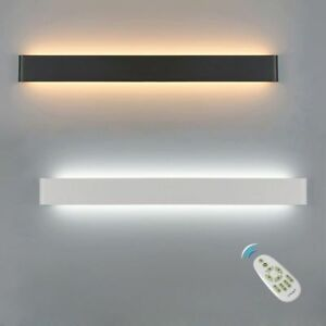 LED Wall Lamp Dimmable 2.4G RF Remote Control Modern Bedroom Beside Wall Light | EBay