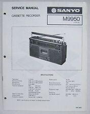 SANYO M9950 Cassette Boombox Original SERVICE MANUAL Ghetto Blaster M-9950