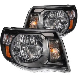 ANZO-CRYSTAL-HEADLIGHTS-BLACK-FITS-2005-2011-TOYOTA-TACOMA-121191