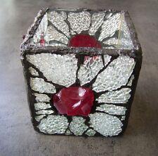 Edeles Art Deko Glas vermutlich für Kerzen, Teelichter o.ä. UNIKAT - Kunstobjekt