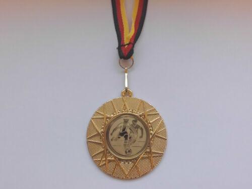 Fußball Ball Pokal Kids 20 x Medaillen mit Band&Emblem Turnier Pokale (e225)