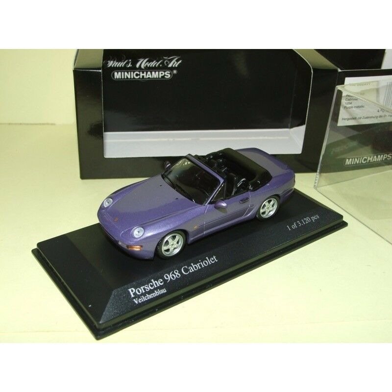 PORSCHE 968 CABRIOLET purple 1994 MINICHAMPS 1 43