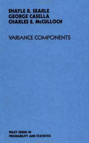Variance Components Hardcover Shayle Robert Searle