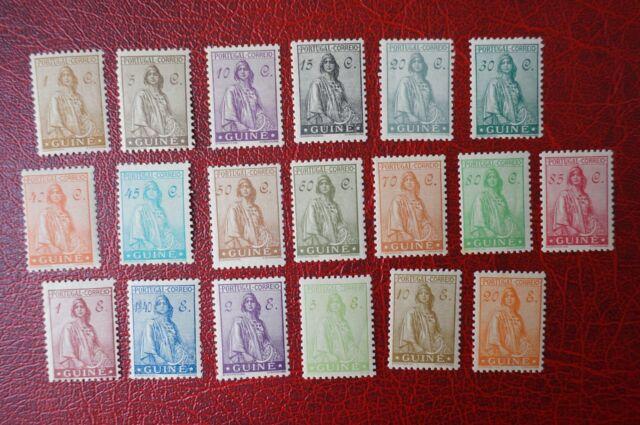 PORTUGAL PORTUGUESE GUINE GUINEA 1933 CERES COMPLETE SET** (MNH)