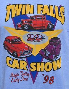 Vintage S Twin Falls Idaho Magic Valley Car Show TShirt LARGE - Car show t shirts
