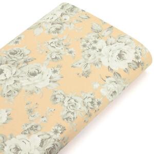Cotton-Fabric-FQ-Vintage-Pastel-Colour-Rose-Floral-Retro-Patchwork-Quilting-VK74