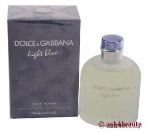 Dolce-amp-Gabbana-Light-Blue-6-7oz-200ml-Edt-Spray-For-Men-New-In-Box