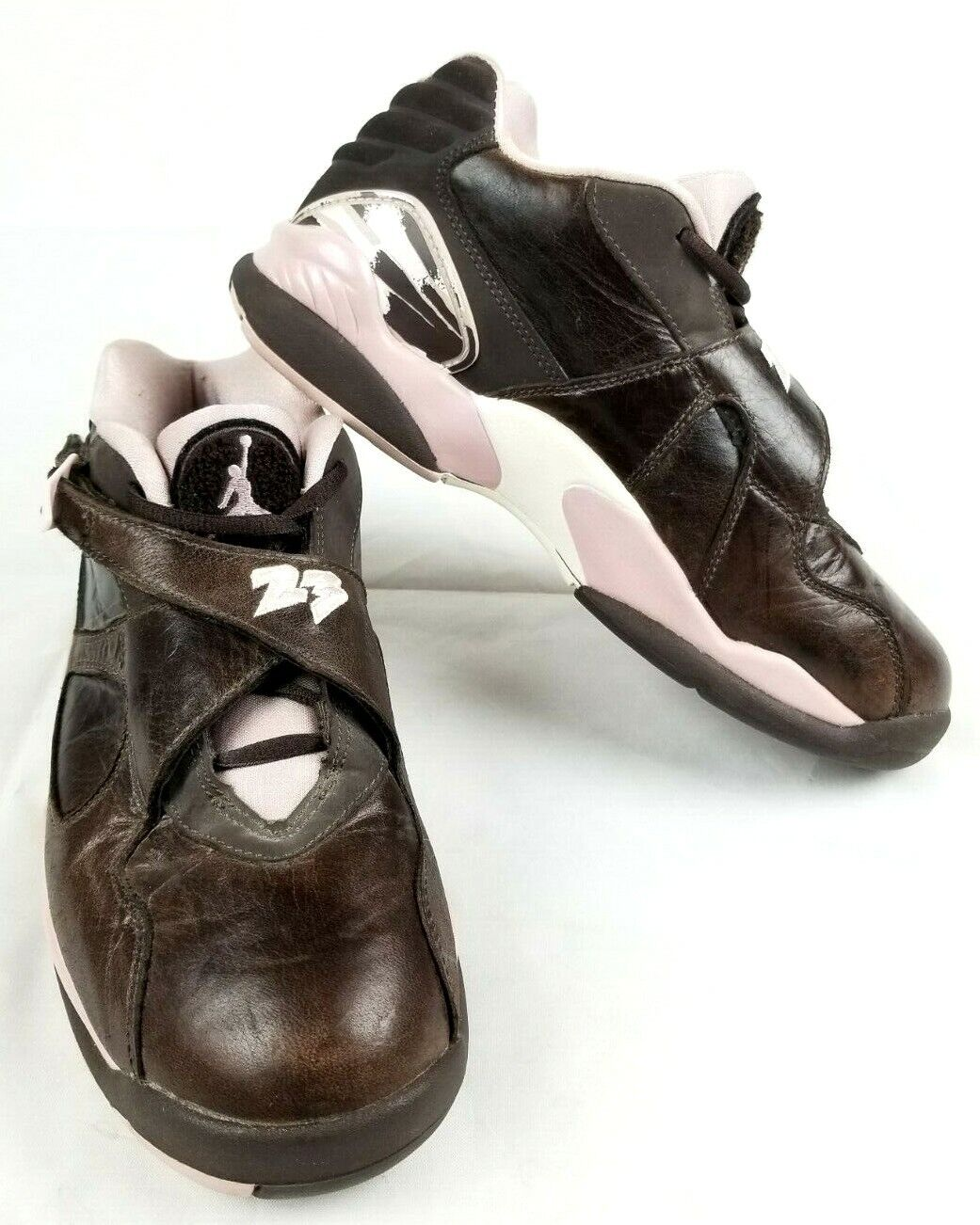 WOMEN NIKE AIR JORDAN VIII 8.5 8.5 8.5 RETRO LOW CINDER BROWN CHAMPAGNE PINK 317251-261 e32d51