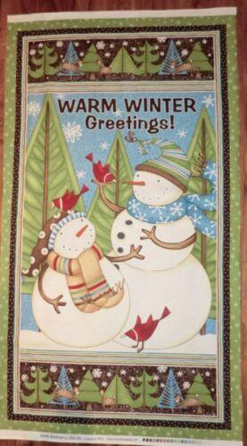 SNOWMAN fabric Wilmington prints SWIRLY SNOWMAN FABRIC QUILT FABRIC BTP NEW