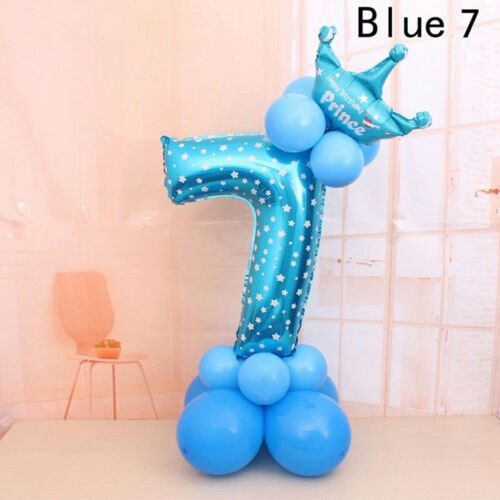 16pcs//set Number Foil Balloons 32 inch Digit Helium Ballons Birthday Party Decor