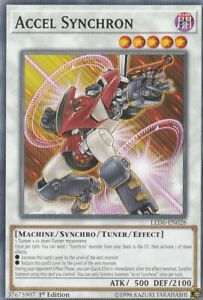 YUGIOH-CARD-1-X-ACCEL-SYNCHRON-LED6-EN028-1ST-EDITION