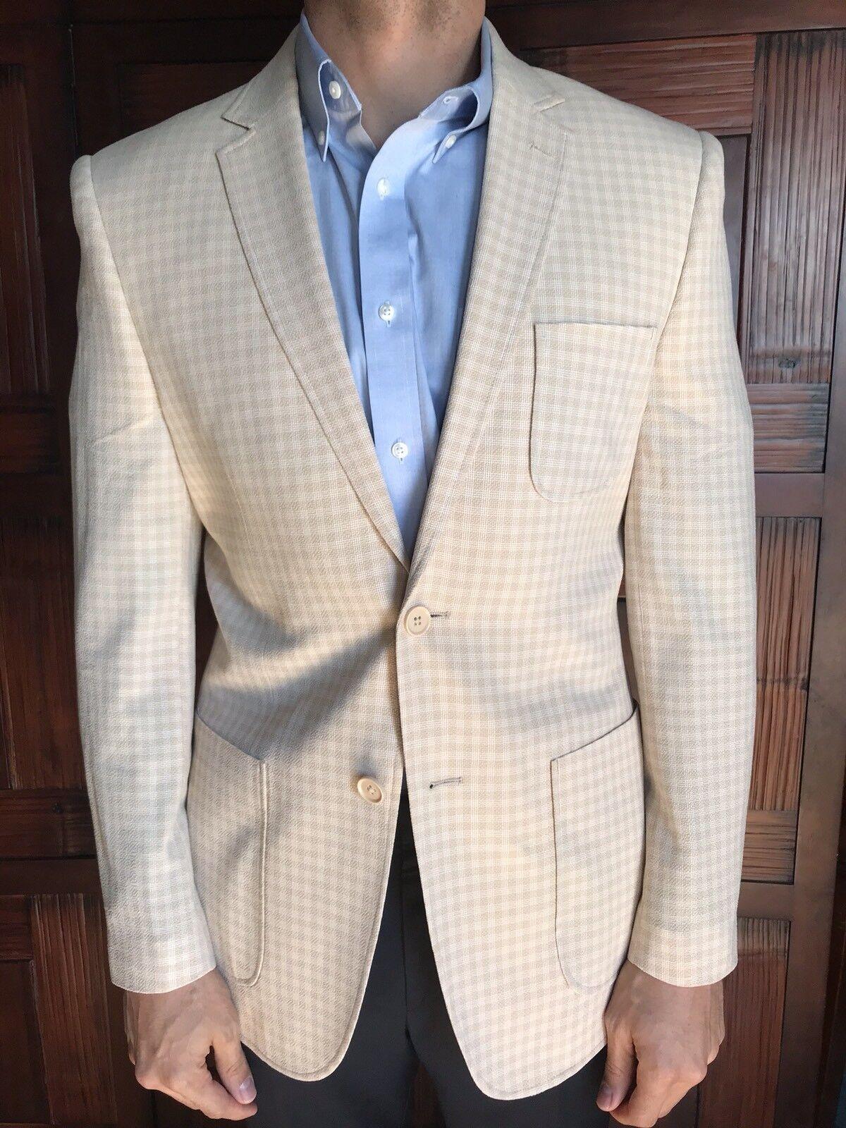 English Laundry  Herren Größe 38R Sportscoat in Light Gelb Plaid New 395