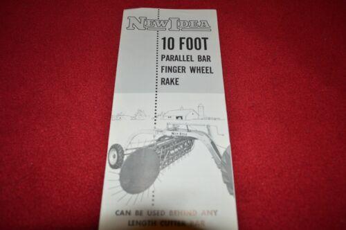 New Idea 10 Foot Parallel Bar Rake Finger Wheel Dealer/'s Brochure GDSD5