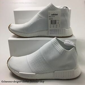 8e7458c6f3b3e ADIDAS NMD CS1 PK TRAINERS CITY SOCK PRIMEKNIT CHUKKA MENS WHITE ...