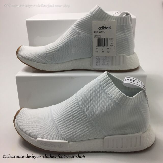 quality design 60a77 9cc54 adidas NMD Cs1 PK Trainers City Sock Primeknit Chukka Mens White Shoes UK  10 for sale online   eBay