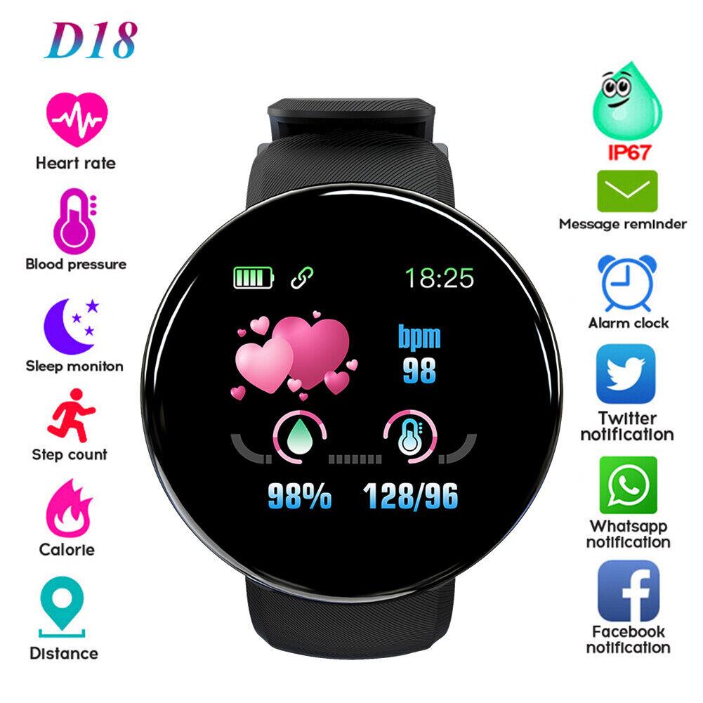 Sport Smart Watch Men Women Heart Rate Blood Oxygen Pressure