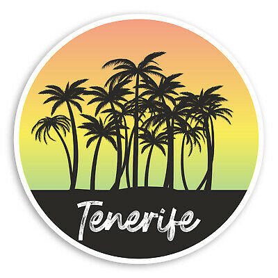2 x 10cm Tenerife Spain Vinyl Sticker Decal Laptop Travel Luggage Canaries #6328
