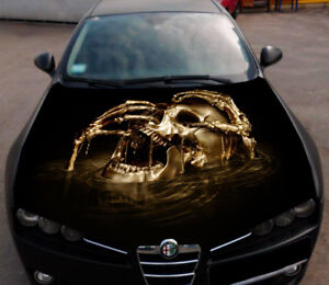 Car Vinyl Wrap For Sale >> The Skull Full Color Hood Graphics Vinyl Wrap Fit any Car ...