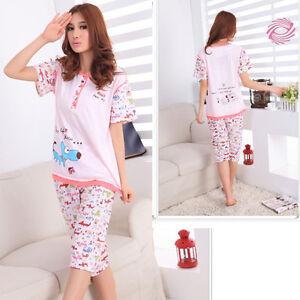 Image is loading Womens-Ladies-Short-Sleeve-Pyjamas-Set-Pjs-Nightwear- 856193c69