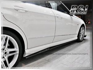 Details about 2011-2014 Mercedes-Benz W212 E63 AMG RZ STYLE Carbon Fiber  Side Skirt Add On Lip