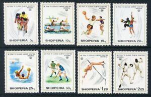 Albania 1975 MNH 8v, Olympics, Montreal, Sports