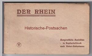 97954-AK-Der-Rhein-Kartenheft-mit-20-Karten-komplett-vor-1945