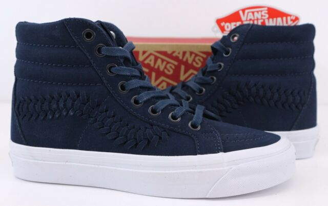 4b1419a377d842 Womens VANS Sk8 Hi Trainers Dress Blue Weave Trainers Shoes UK 5 for ...