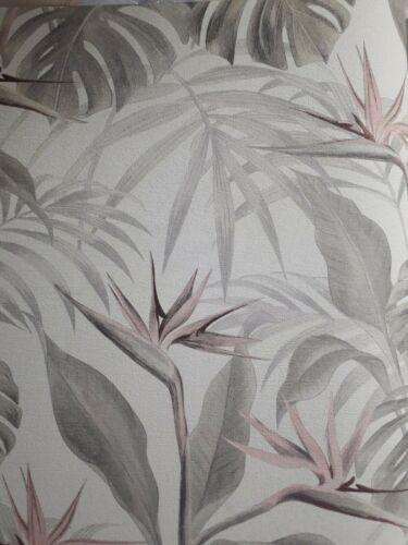 Koer Wohnwelten Vliestapeten Blätter Neuware Tapeten Grautöne rosa Floral Neu