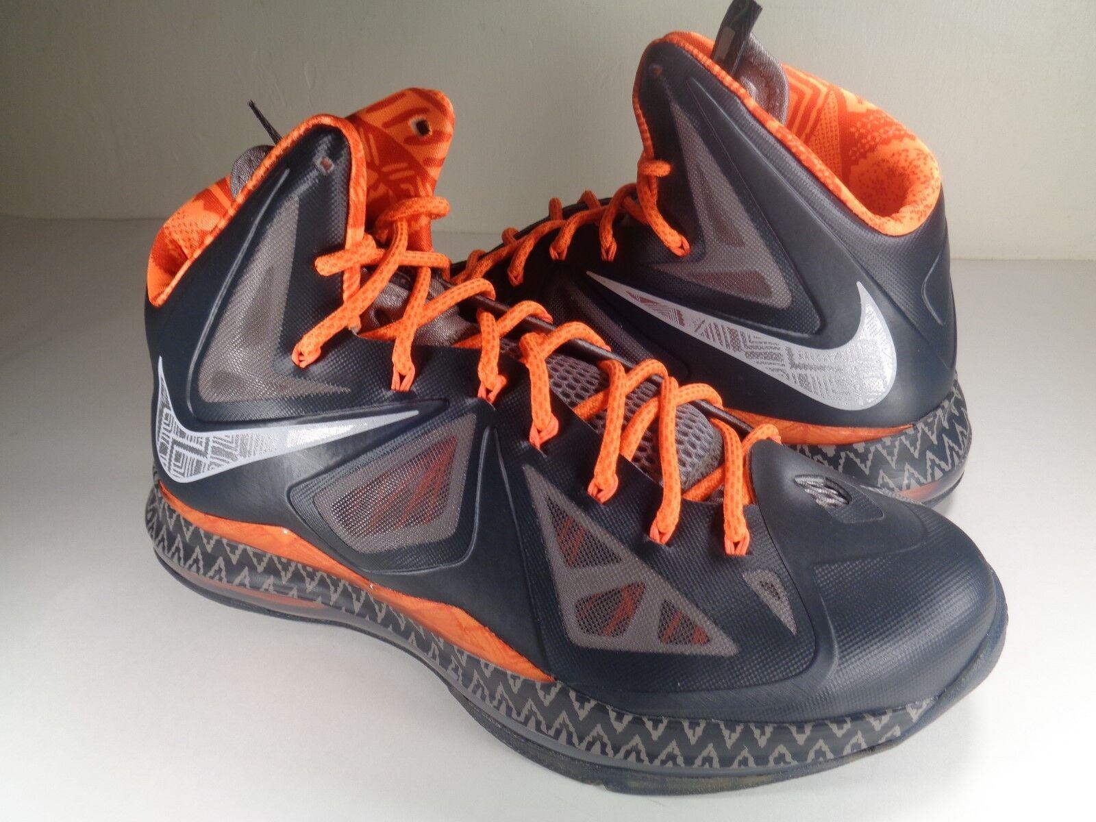 Nike Lebron X 10 BHM Black History Month Anthracite Grey SZ 9.5 (583109-001)