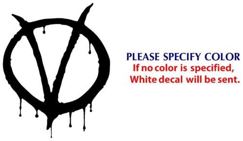 "Vendetta Game Movie Graphic Die Cut decal sticker Car Truck Boat Window 7/"""