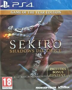 Sekiro Shadows Die Twice Game of The Year Ed PS4 Playstation 4 Brand New Sealed