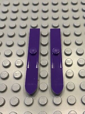 Lego 2x Dark Purple Ski Pair Minifig Utensil 6L NEW