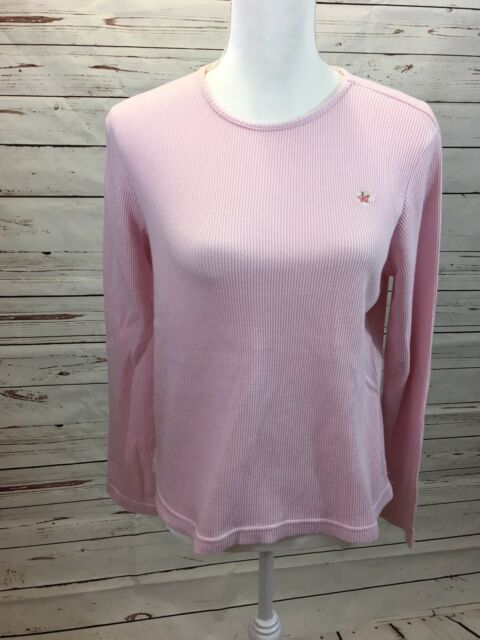 Vintage Esprit Womens Juniors Size Small Pink Thermal Top