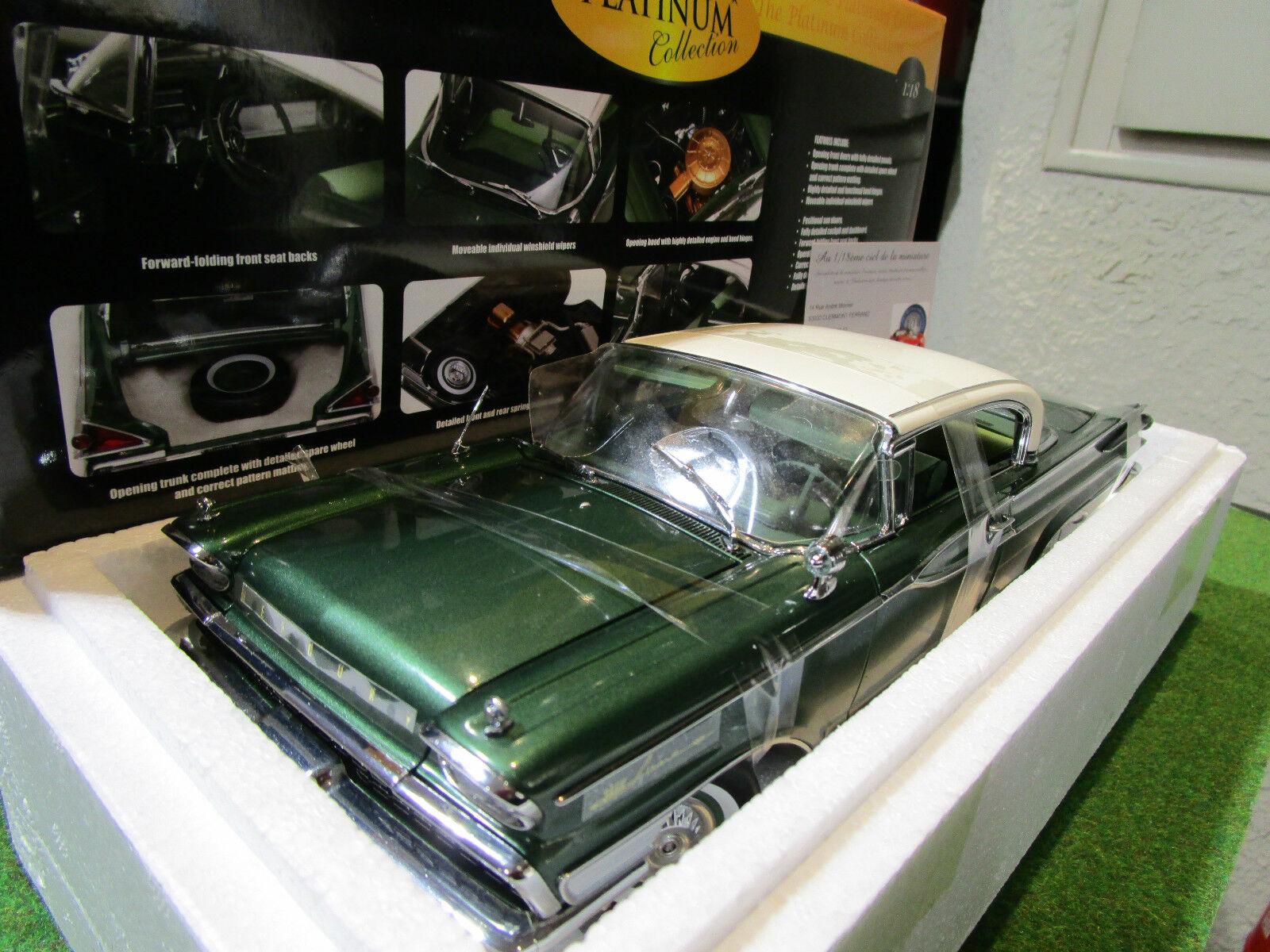 MERCURY PARK LANE HARD TOP de 1959 verde au 1 18 SUN STAR 5164 voiture miniature