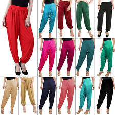Indian Women's Ethnic Ready Made Salwar Regular Fit Rayon Heram Pants Free size