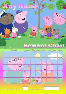 PEPPA-PIG-custom-Childrens-Kids-Good-BEHAVIOUR-Training-REWARD-Chart-Sheet-Potty