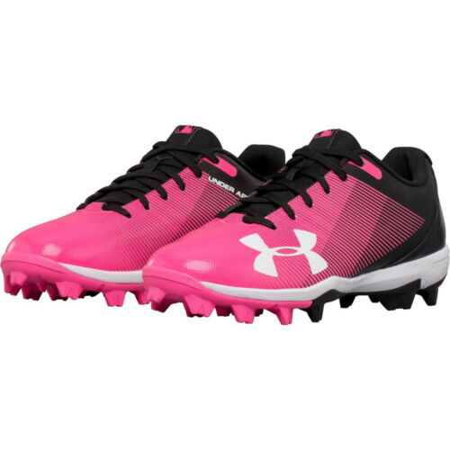 Baseball Cleats Shoes 1297316-002 Under Armour Youth Kids Leadoff Low RM J Pink