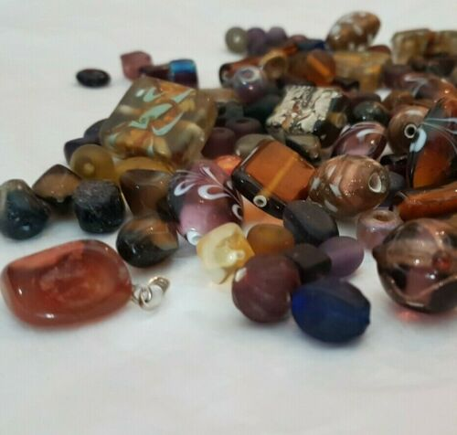 100g Glass Bead Mix Packs Lampwork Stone Murano Multi Assorted Mixture Colours
