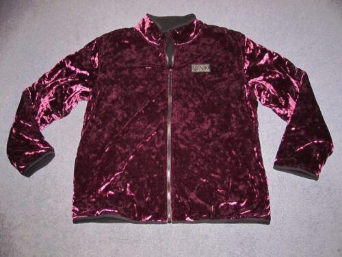 Larg Samt Jacke Reversible Und Nip Sherpa Victoria's Pink Secret Gefütterte RYY8qzx