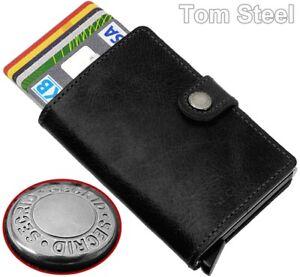 SECRID-Leder-Aluminium-Kreditkartenetui-Geldboerse-EC-Kartenetui-Geldklammer-NEU