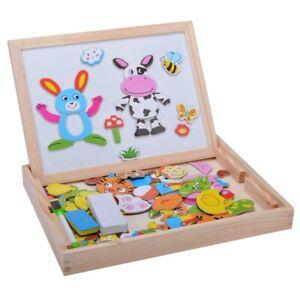 Baby-Lernspielzeug-Staffelei-Magnetic-Doodle-Kinder-aus-Holz-Zeichnung-Tafe-B4J5