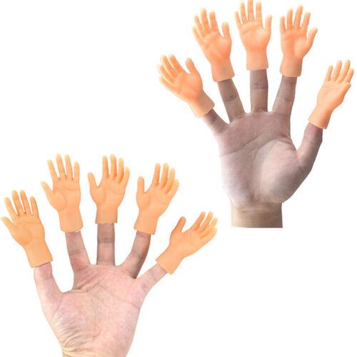 1 Pair Little Finger Hand Soft Vinyl Puppet Little Finger Storytelling Props US