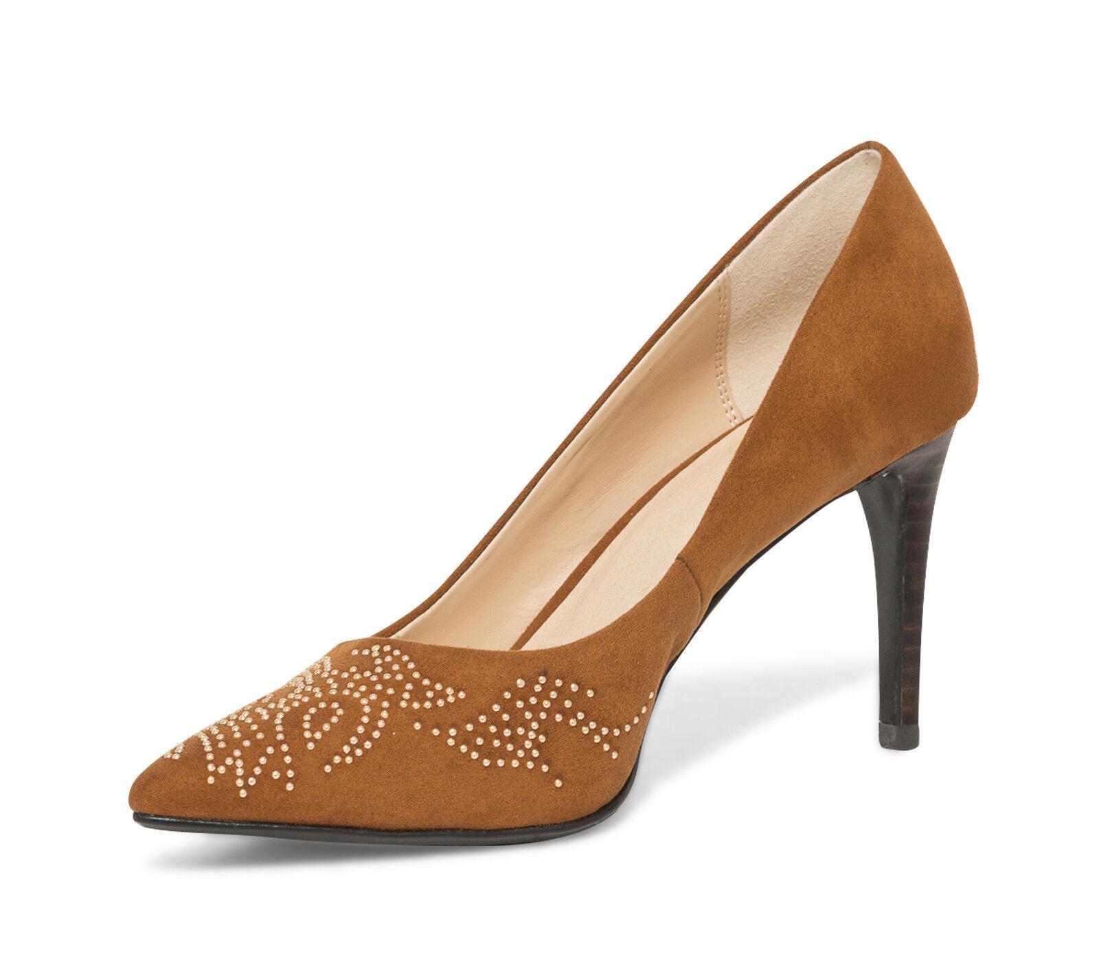 Señoras eran Tribunal Zapatos Zapatos Zapatos UK 6 EU 39 Nuevo Bronceado Stud Diseño  entrega gratis