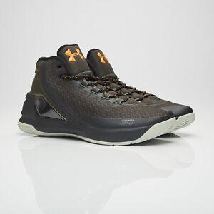 sports shoes c5979 3d638 Details about Under Armour Mens Curry 3 Basketball Shoes Black Carbon  Orange UA 1269279 357